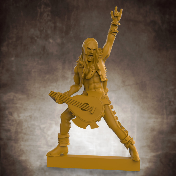 Human Male Bard - Metal! (32mm scale miniature)