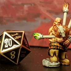 """Picture of print of Dwarf """"Bardzerker"""" - Dwarvern Bard with Flaming Bagpipes (32mm scale miniature)"""