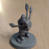 """Dwarf """"Bardzerker"""" - Dwarvern Bard with Flaming Bagpipes (32mm scale miniature) print image"""