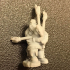 """Dwarf """"Bardzerker"""" - Dwarvern Bard with Flaming Bagpipes (32mm scale miniature) image"""