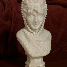 Picture of print of Female bust with a veil
