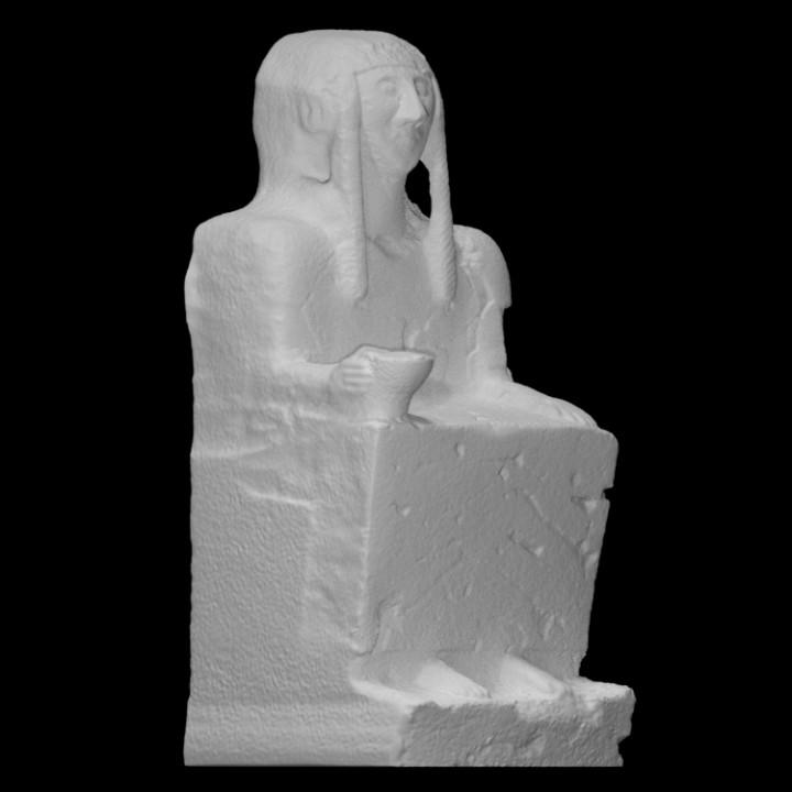 Monumental funerary figure