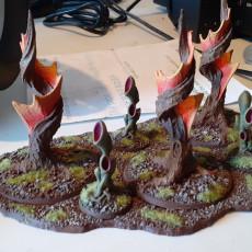 "Picture of print of Tabletop plant: ""Corkscrew-Tree"" (Alien Vegetation 08)"
