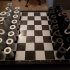 Cylindrical Chess set image