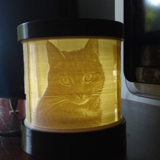 rotating lithophane lamp