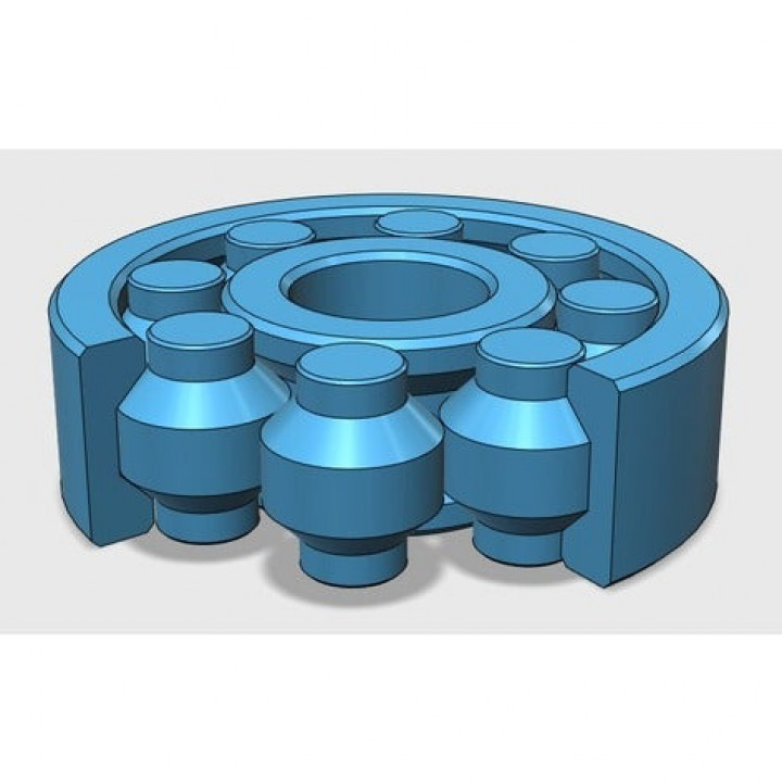 Fully 3D-printable bearing