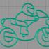 Moto keychain image