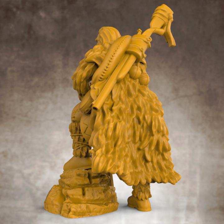 Frontiersman - Human Male Ranger (32mm scale miniature)
