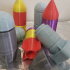 Rocket Screw Container with Stand print image