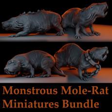 Monstrous Mole-Rat Tabletop Miniatures Bundle