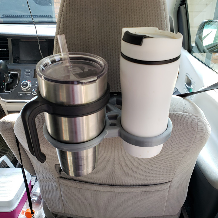 Seatback cup thermos holder (fits Toyota Sienna)