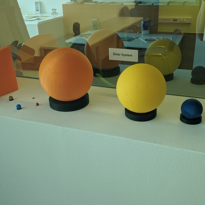 E3D+VET exercise: Solar System