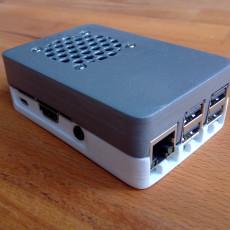 Raspberry 3 (B, B+) case with optional 30/40mm fan mount