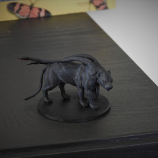 Picture of print of Displacer Beast - D&D Miniature 这个打印已上传 Diego Lizana