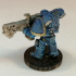 Space marine tactical squad with flamethrower - warhammer 40k image