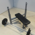 Weight Bench and Weights (1:18 scale) image