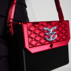 3D printed handbag with LED light - completely functional (medium size)