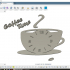 Coffee Time Kitchen Clock image