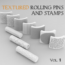 Textured Rolling Pins & Stamps Vol. 1