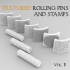 Textured Rolling Pins & Stamps Vol. 1 image