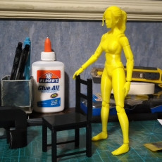 Picture of print of Articulated Poseable Female Figure