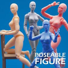 Articulated Poseable Female Figure
