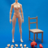 Articulated Poseable Female Figure image