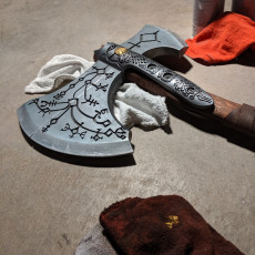 Picture of print of Kratos Axe God of War