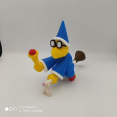 Picture of print of Magikoopa from Mario games