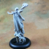 Human Female Sorceress (32mm scale miniature) image