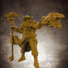 Human Male Wizard (32mm scale miniature)