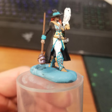 Picture of print of Human Female Battle Mage (32mm Scale Miniature)
