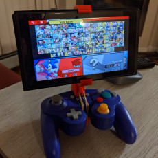 Picture of print of Adjustable Gamecube & Pro controller Nintendo Switch Mount