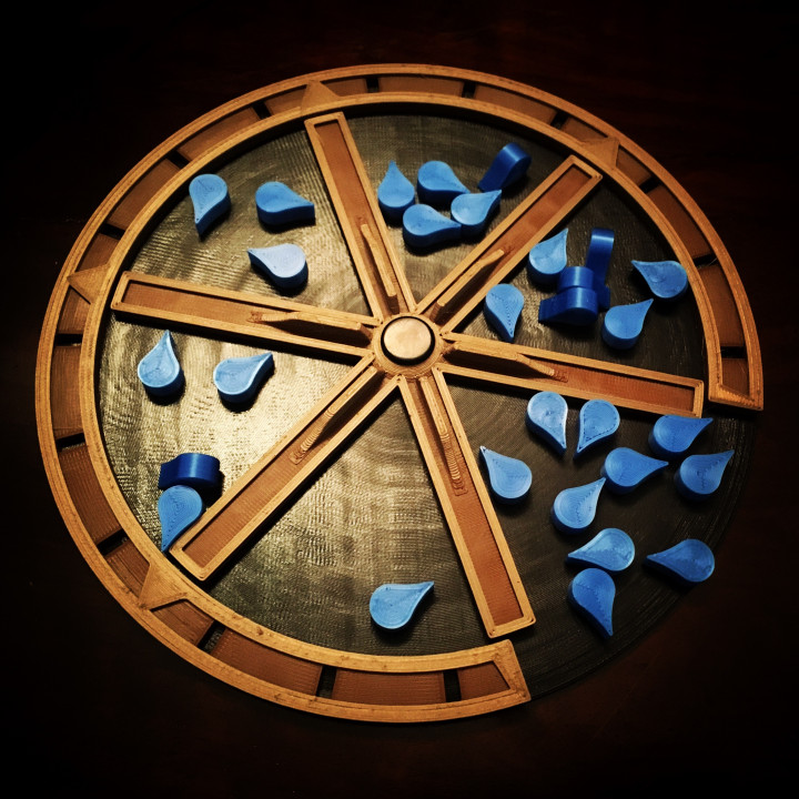 Construction wheel for BARRAGE the boardgame