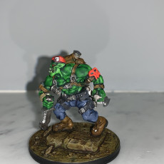 Picture of print of Orc Kommando Ork Blitz time to fight