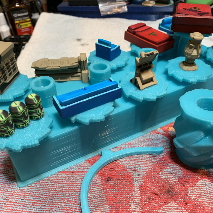 Base Holder Block for Rotating Miniature Paint Holder