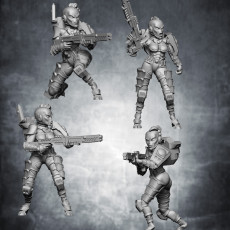 Female space alien warriors