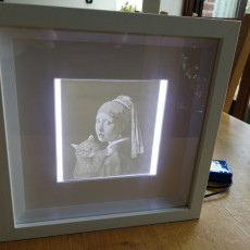 Lithophane with IKEA RIBBA frame and led lighting