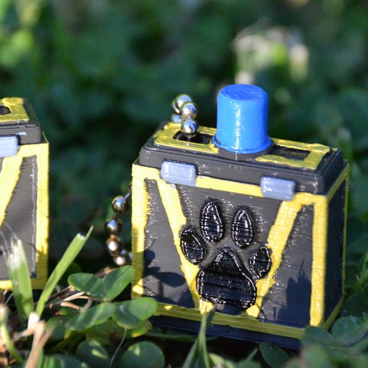 Super Animal Royale Mole Crate Keychain