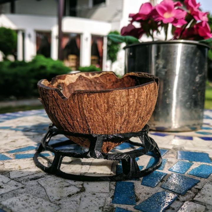 Coconut ashtray stand