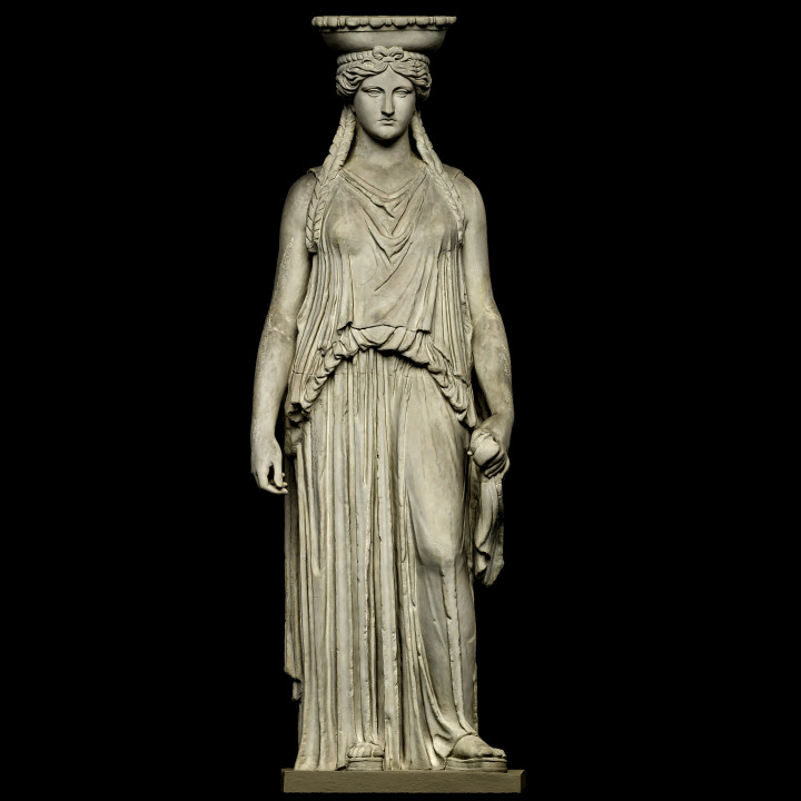 Copy of Caryatid C, Erechtheion of the Acropolis