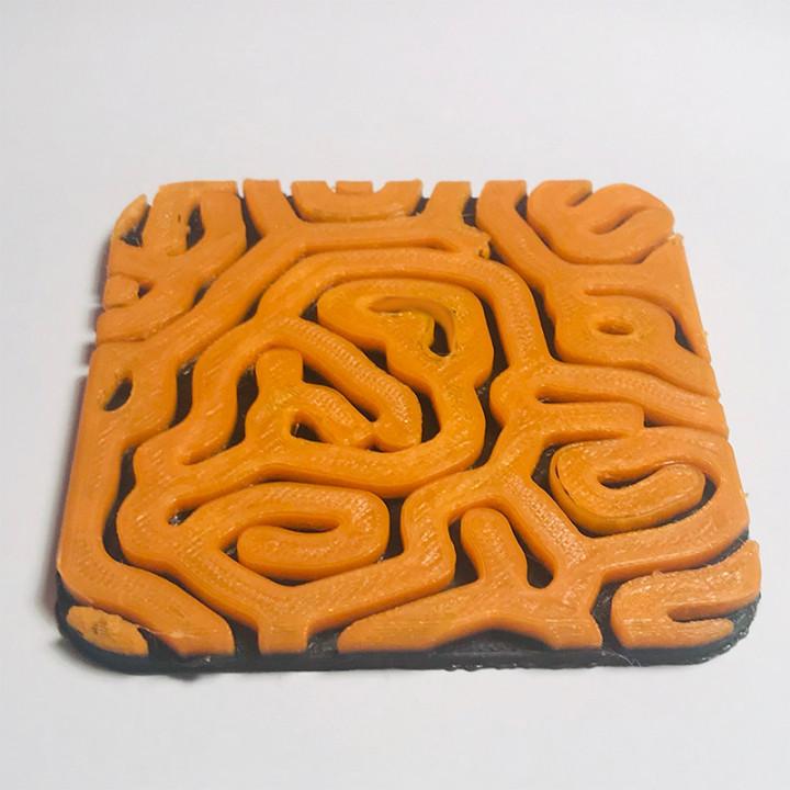 Diffusion Reaction texture// Coaster