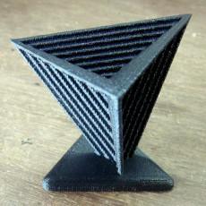 Tetrahedron Table Decoration