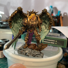 Picture of print of Combat Angel 1 support ready for resin printers