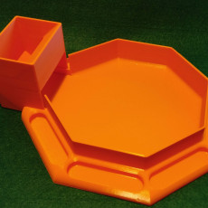 Octagonal Dice Tray with Built-in Dice Tower
