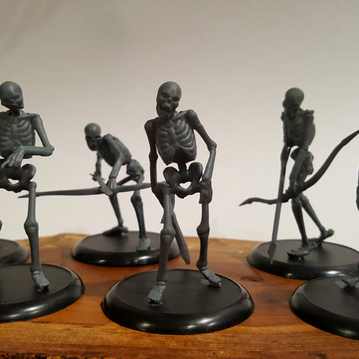 Skeleton Mob - D&D Miniature