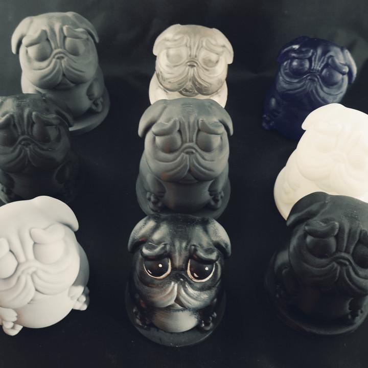 DoggyPop Pug Idol statue