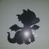 Baby Dragon Silhouette and Stencil image