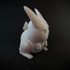 Picture of print of One Pissed Off Pikachu, miniature pokemon meme