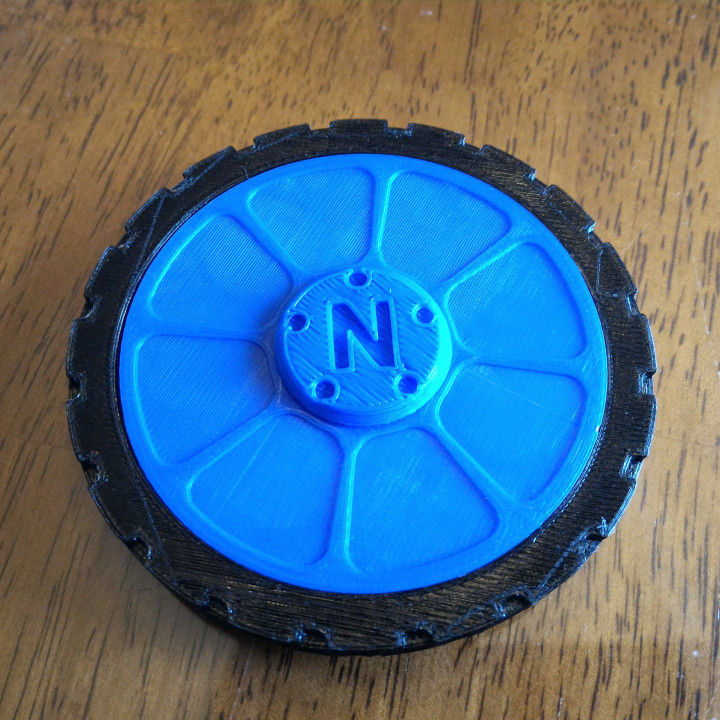 Wheel fidget spinner - complete with tire